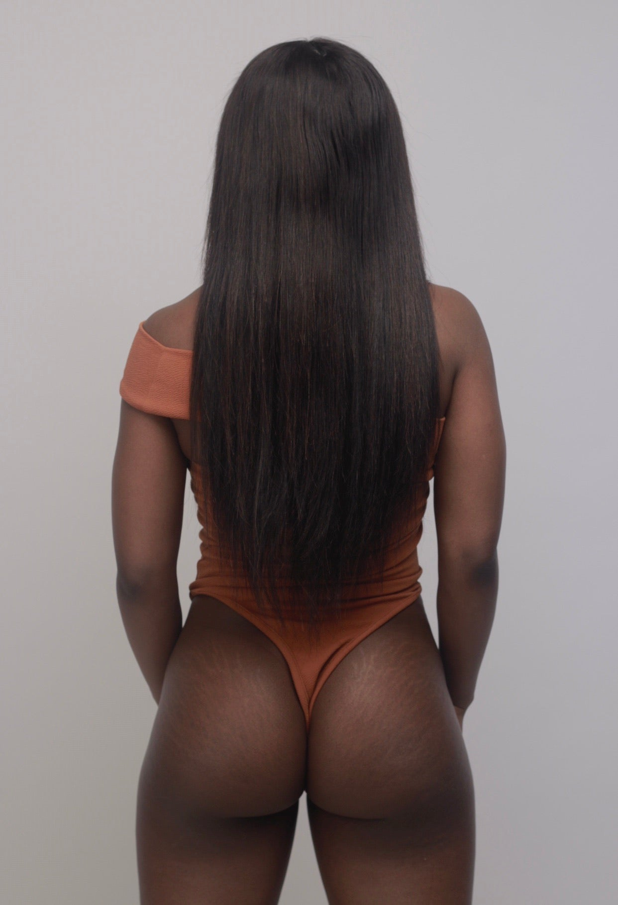 Kenya Bodysuit In Ginger - Sincerely Nude