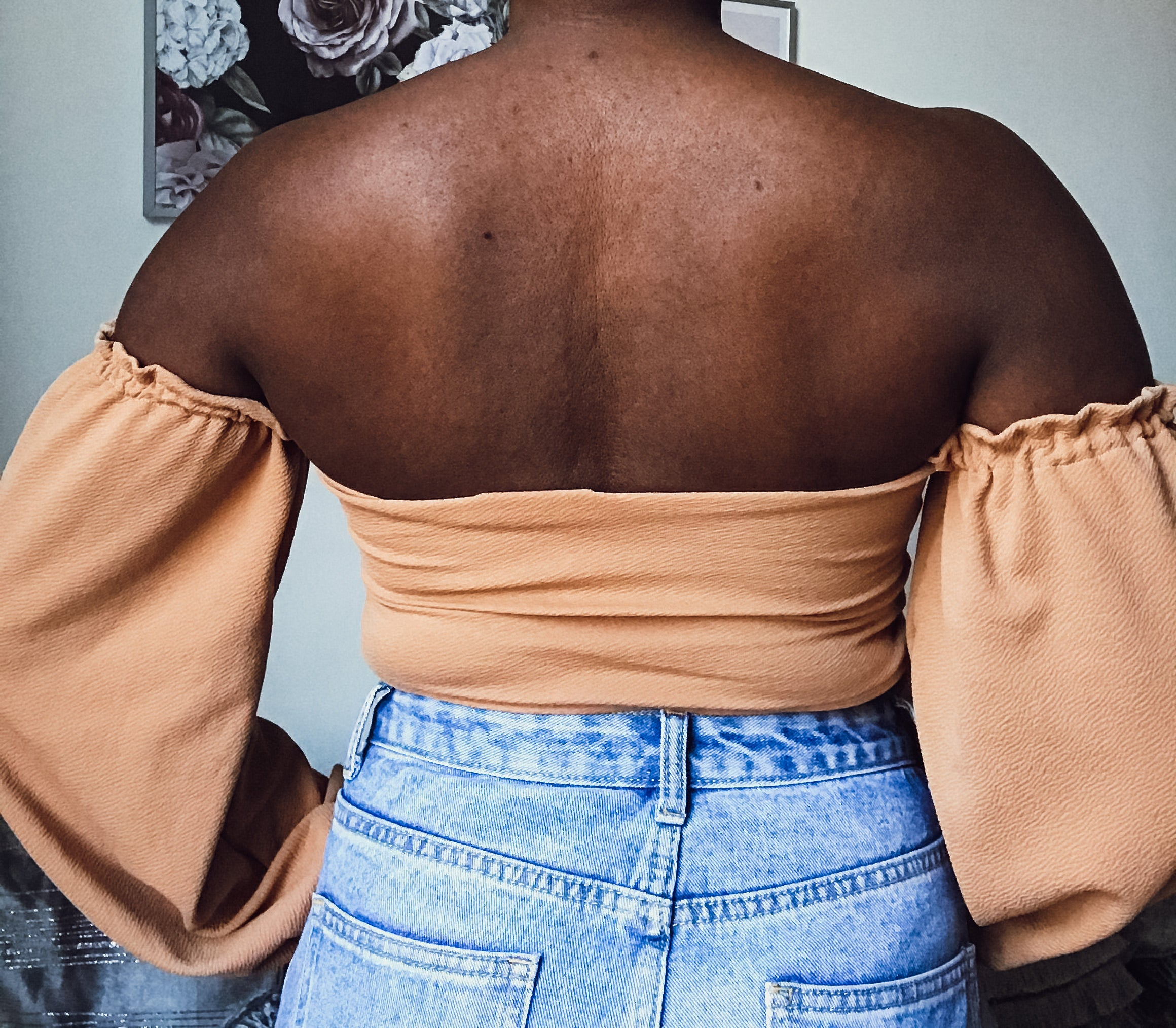 Sahara knotted Crop in Mink