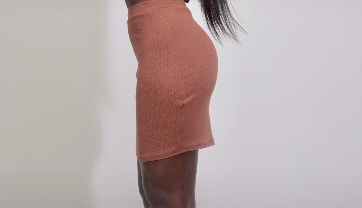 Luna Mini Skirt In Ebony - Sincerely Nude