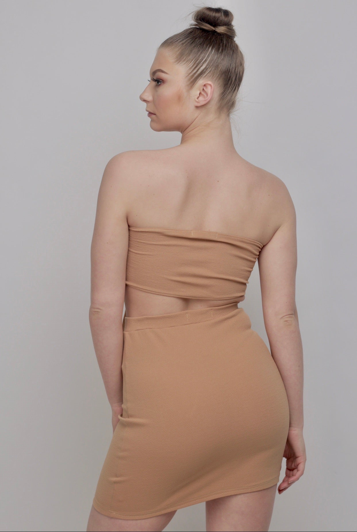 Luna Mini Skirt In Mink - Sincerely Nude