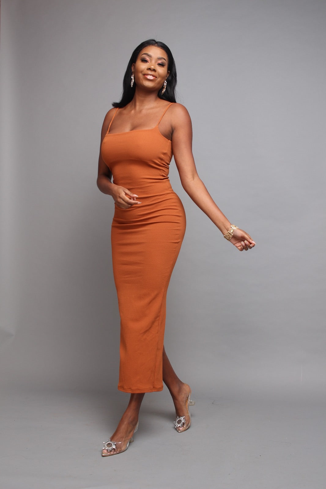 Chloe Maxi Dress in Ginger