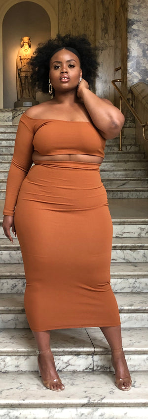 'Eve' Madaxi Skirt in Ginger - Sincerely Nude