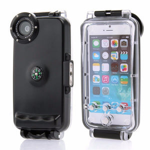 "40M/130ft 40M Underwater Waterproof Hard Diving Case IPX8 Protection Housing For iPhone 6 6S 4.7"" Waterproof Cover With Compass - Infinite Covers iPhone Cases"