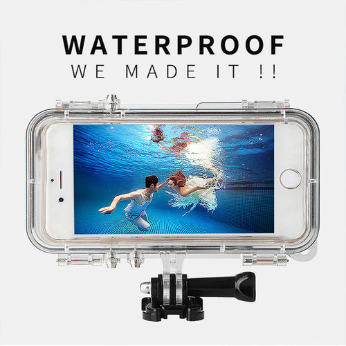 Extreme Sports Waterproof Phone Case with Wide Angle Lens for iPhone 5S/5C/6S/6S Plus Housing Compatible With All GoPro Accessories - Infinite Covers iPhone Cases