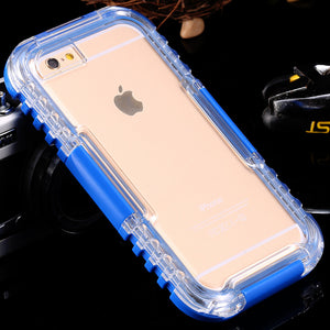 Super Waterproof Case for iPhone models 6S 6S Plus 7S 7S Plus strong design in 6 Colors you can dive in the watter with your phone easier - Infinite Covers iPhone Cases