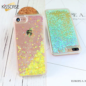 Quick Sand Glitter PC Case for iPhone and Samsung models hearts and sand moving for iPhone 5S/6S/6S Plus/7S/7S Plus & Samsung S6/S6edge/S7/S7edge - Infinite Covers iPhone Cases