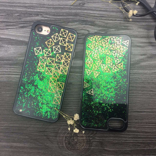 Bling Glitter Liquid Quicksand Back Phone Cases Cover for iPhone 7S 7S Plus 6S 6S Plus Back Cover