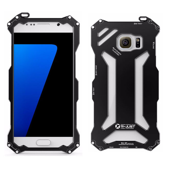 R-JUST Gundam For Samsung S7 Edge Metal Case for SAMSUNG Galaxy S7 & S7 Edge Aluminum Armor Cover 360 Protective Phone Housing