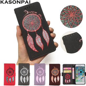 Leather Flip Case For iPhone 7S/7S plus/6S/6S Plus Luxury Dream Catcher Glitter Leather Cover Wallet With Card holders iPhone Case - Infinite Covers iPhone Cases All the most premium phone Cases both for android and iPhone