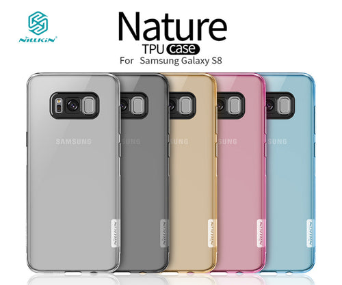 Nillkin Nature Transparent s8 clear case Soft silicon TPU Protector cose for samsung s8 case capa fundas s8 for samsung case 5.8