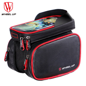 Tube Head Frame Front Waterproof Bike Bags 6.2 Inch Cellphone Bags Bicycle Bag With Double Pouch