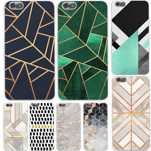 Marble Lines Luxury Hard Case Cover for Huawei P10 P9 P8 Lite Plus P7 6 G7 & Honor 8 Lite 4C 4X 7