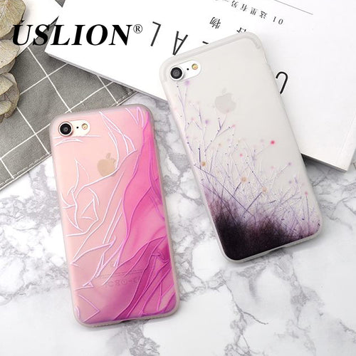 Case For iPhone 6S/6S Plus/7S/7S Plus Case Ultra thin Chinese art with Flower Relief Soft TPU Silicone Back Cover