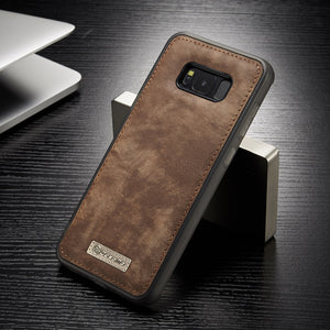 Magnetic Vintage Leather + Soft TPU Silicon Back Cover Case For Samsung Galaxy S8/ S8 Plus Phone Cases Housing