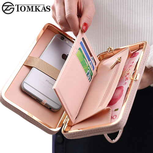 Women Wallet Phone Bag Leather Case Universal with zip and card holders For iPhone/Samsung/Xiaomi/Redmi/Note3/LG/Sony