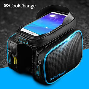 Bicycle Frame Front Head Top Tube Waterproof Bike Bag&Double IPouch Cycling 6.0inches Bike Accessories - Infinite Covers iPhone Cases All the most premium phone Cases both for android and iPhone
