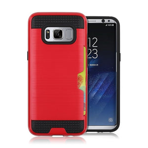 Armor Phone Case For Samsung S8 Armor Silicone TPU PC Brushed Hard Case With Card Slot Holder - Infinite Covers iPhone Cases All the most premium phone Cases both for android and iPhone