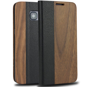For Samsung Galaxy S7 Magnetic Flip Case for Samsung Galaxy S7/S7 edge Natural Wood Cover Bamboo with Genuine Leather - Infinite Covers iPhone Cases All the most premium phone Cases both for android and iPhone