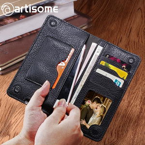 Universal PU Leather Case Unisex Purse Credit Card Holders and Phone Bag For iPhone and Android Phones - Infinite Covers iPhone Cases All the most premium phone Cases both for android and iPhone