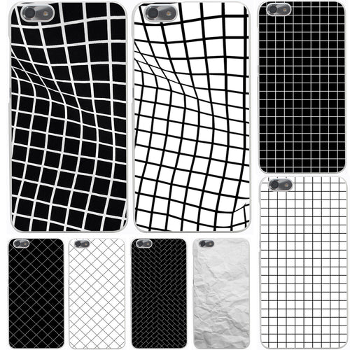Black and white lattice Hard Case Cover for Huawei P10 P9 P8 Lite Plus P7 6 G7 & Honor 8 Lite 4C 4X 7 - Infinite Covers iPhone Cases All the most premium phone Cases both for android and iPhone