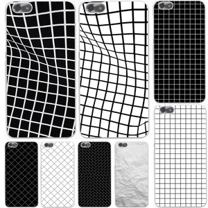 Black and white lattice Hard Case Cover for Huawei P10 P9 P8 Lite Plus P7 6 G7 & Honor 8 Lite 4C 4X 7
