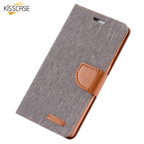 Wallet Flip Cloth Skin Phone Case For Samsung Galaxy S8 Plus S7 S7 Edge S6 Edge S5 Note 5 Megnetic Wallet Card Slot Cover