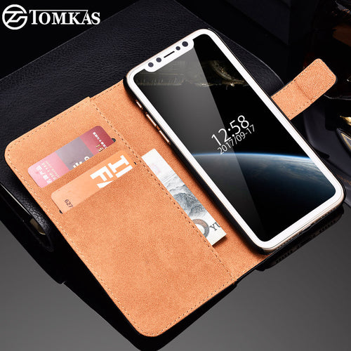 Case For iPhone 8 Phone Flip Wallet PU Leather Cover With Card Holders - Infinite Covers iPhone Cases All the most premium phone Cases both for android and iPhone