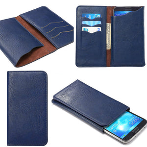 Universal Leather Flip cas with card holders Wallet Pouch Back Cover For Samsung/iPhone