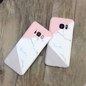 For iPhone 6S 6S Plus/7S/7S Plus & Samsung S6/S6 Edge/S7/S7 Edge/S8 Plus Fashion Granite Marble Stone Patterns Wooden Patterns