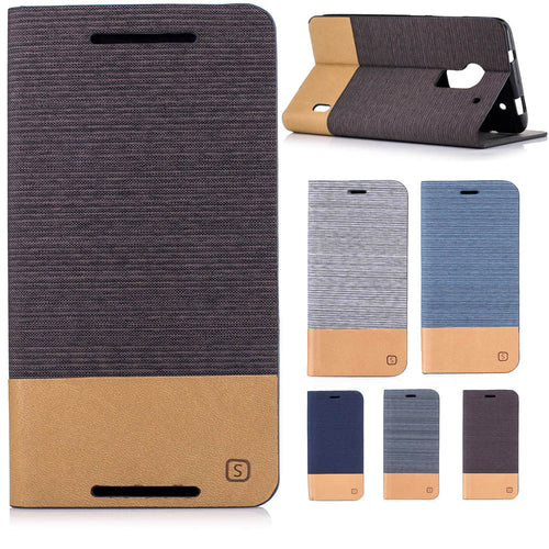 PU Leather Case For HTC M7 M9 M10 A9 One MAX Denim Jeans Canvas Wallet Stand Leather Flip Case With Card Slot - Infinite Covers iPhone Cases All the most premium phone Cases both for android and iPhone