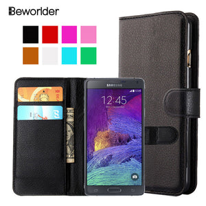 For Samsung Galaxy Note 4 Case N9100 PU Leather Luxury Lychee Flip Wallet Card Holder Slots - Infinite Covers iPhone Cases All the most premium phone Cases both for android and iPhone