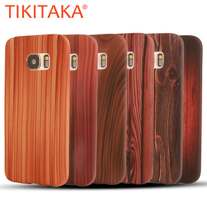 S7/S7 Edge Wood Case Back Cover Ultra thin Durable Soft Silicone Rosewood Cherry Wooden Grain - Infinite Covers iPhone Cases All the most premium phone Cases both for android and iPhone