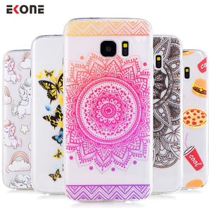 Phone case for samsung galaxy models s7 s7 edge s6 s6 edge s8 Mandala food unicorn Silicon Back Cover