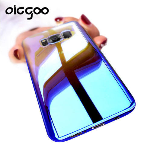 Gradient Light Cover Phone Case For Samsung Galaxy S8 S8 Plus Back Covers