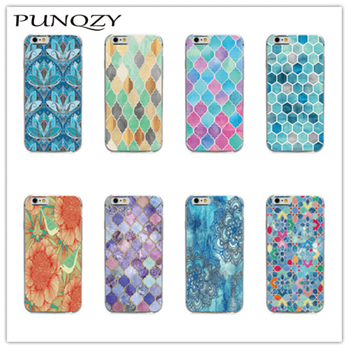 Beautiful Colorful Mandala Patterns For iPhone 4s/5S/6S/6S Plus/7S/7S Plus Phone Protective Back Cover