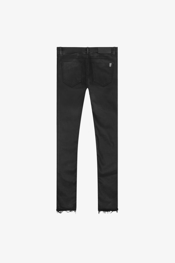 114 Raw Edge Cropped Jeans | Oil Wash