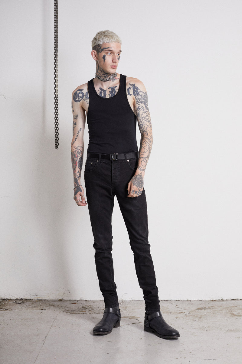 114 Essential Jeans | Vintage Black - OTHER UK  Rock Goth Punk Urban Gangster Streetwear Skate Emo Motorcycle Biker