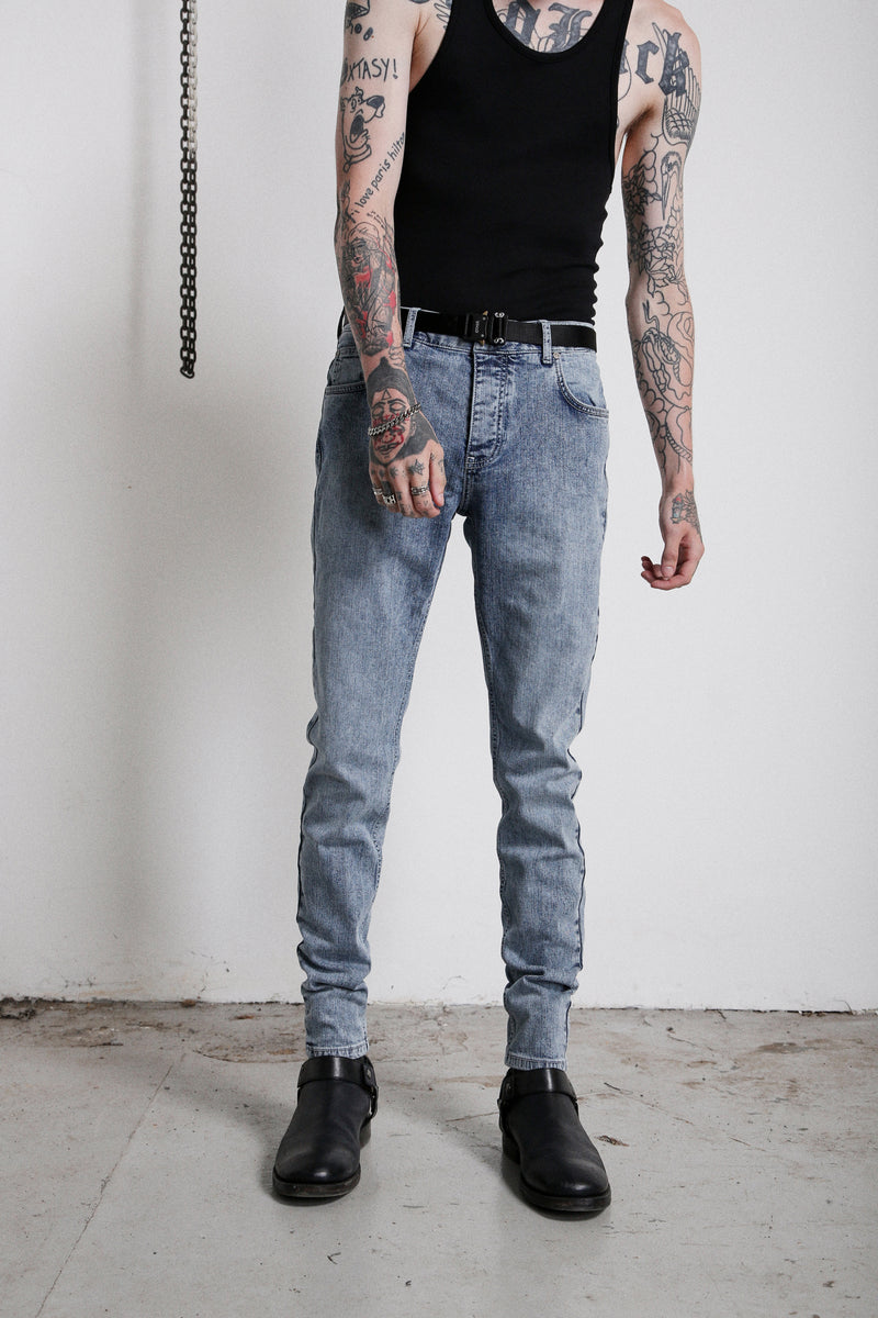 114 Essential Jeans | Vintage Blue - OTHER UK  Rock Goth Punk Urban Gangster Streetwear Skate Emo Motorcycle Biker