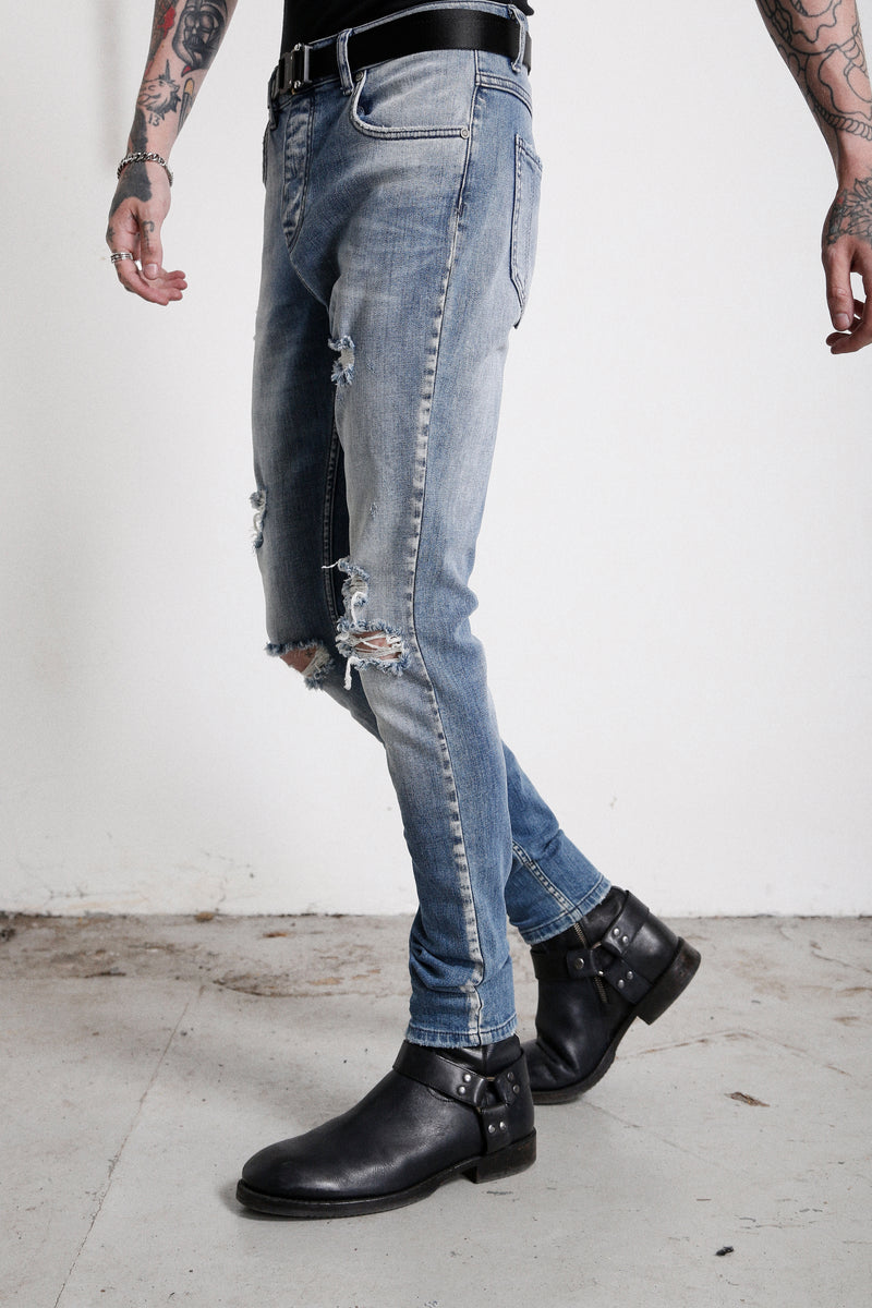114 Newman Jeans | New Blue - OTHER UK  Rock Goth Punk Urban Gangster Streetwear Skate Emo Motorcycle Biker