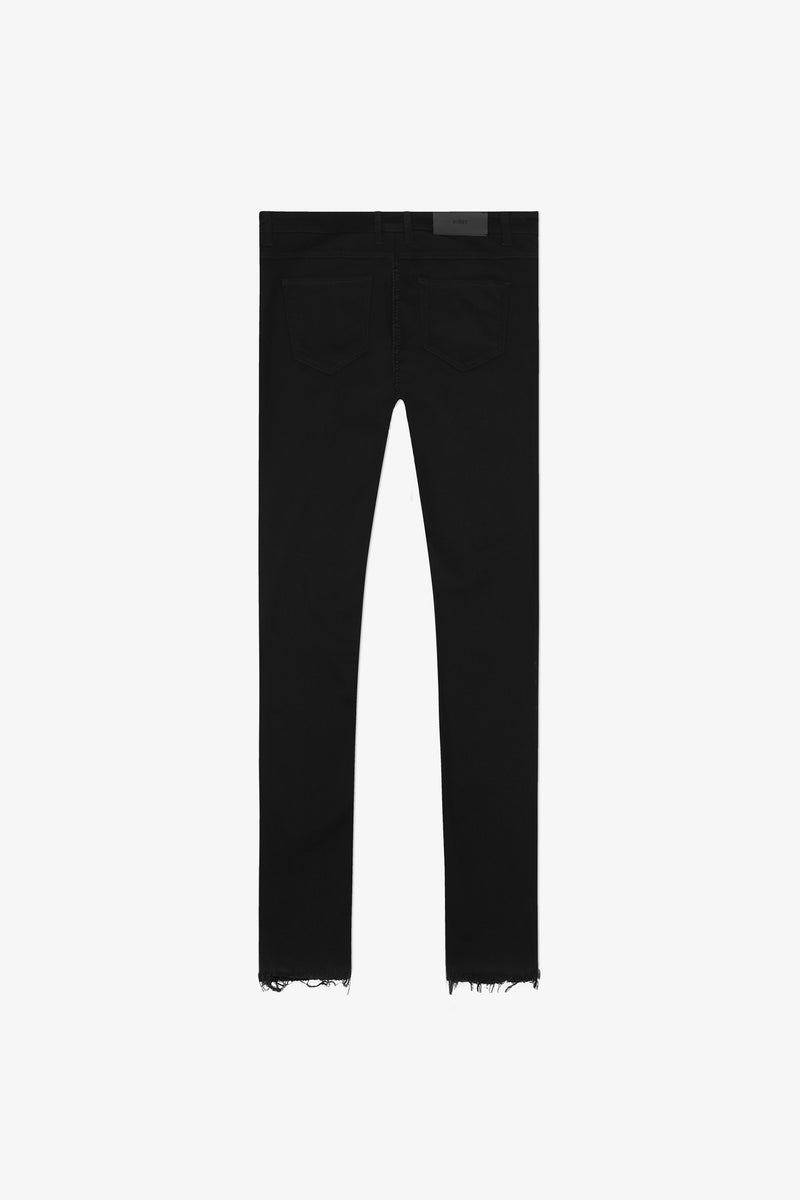 116 Raw Edge Jeans | Jet Black