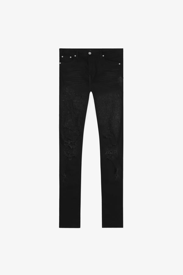 116 Trashed Jeans | Jet Black