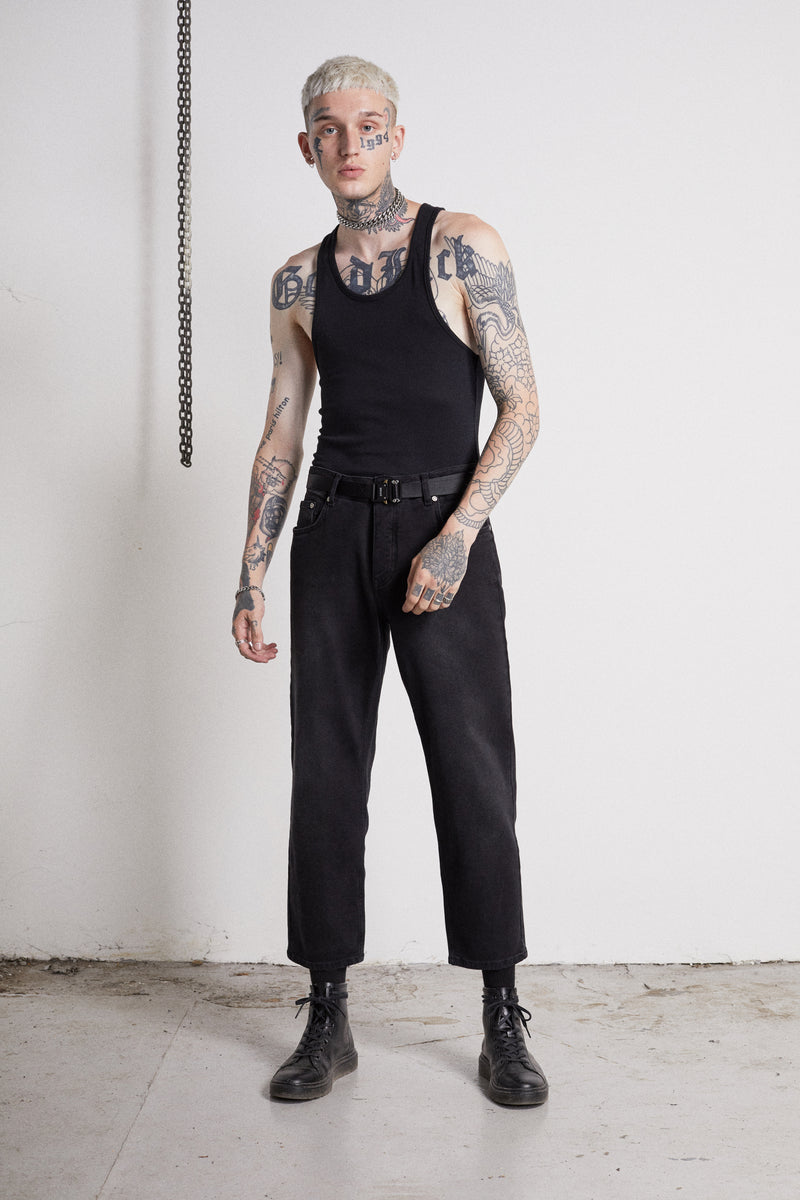 118 Essential Jeans | Vintage Black - OTHER UK  Ripped Distressed Destroyed Torn Rock Punk Emo Gangster Urban