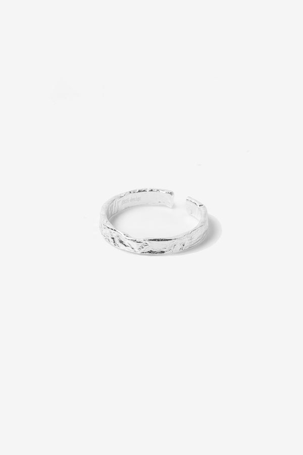 .925 Micro Crushed Band Ring