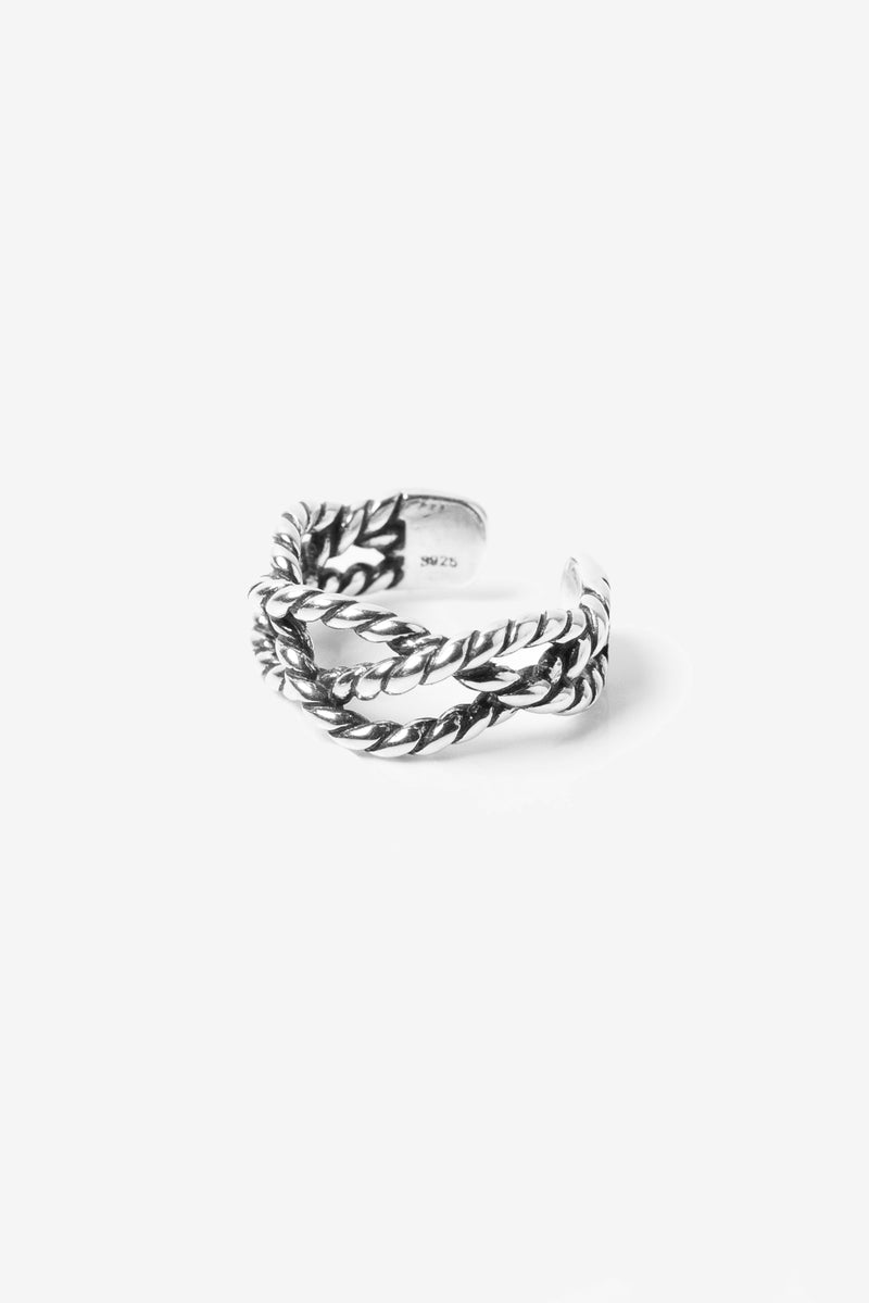.925 Knotted Ring