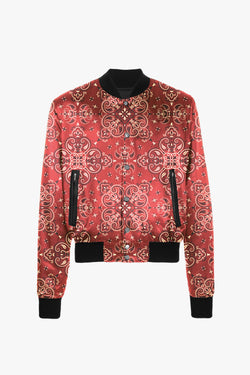 Bomber Jacket | Red Paisley