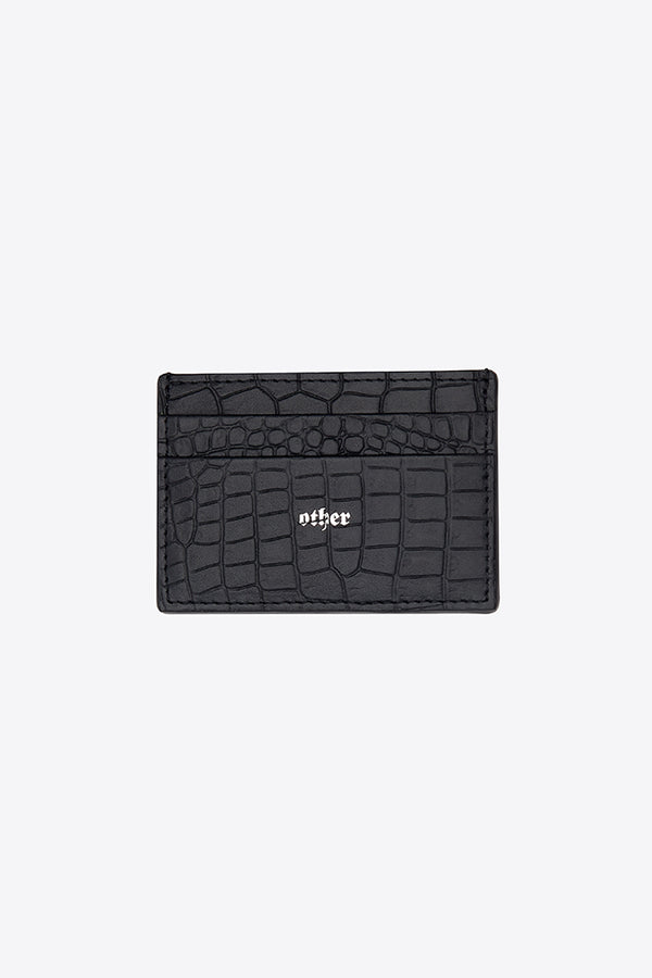 Card Holder / Black Croc