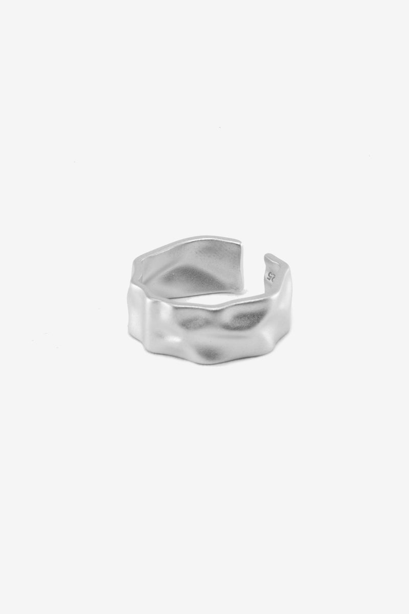 .925 Hammered Cuff Ring
