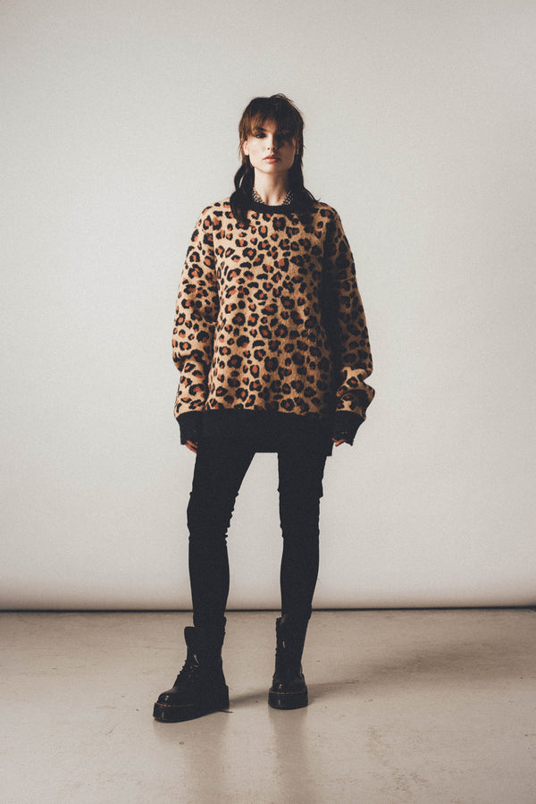 Distressed Leopard Jumper