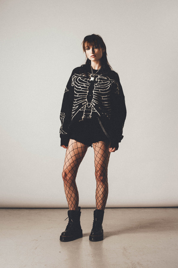 Distressed Skeleton Jumper