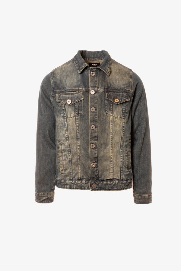 Denim Trucker Jacket | Dirty Indigo